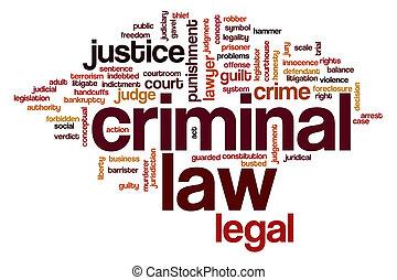 criminel, mot, nuage, droit & loi