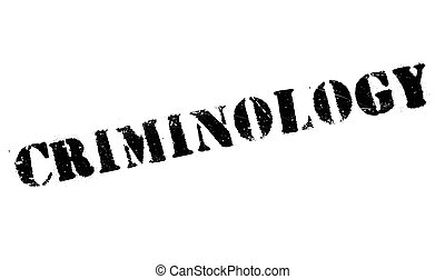 Criminology rubber stamp. Grunge design with dust scratches...