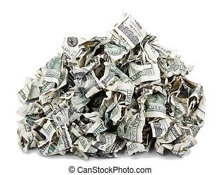 Crimped Pile of Cash