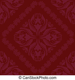 crimson background seamless with ornaments