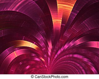 Crimson fan. Abstract background