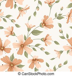 Crimson maroon gypsophila floral seamless pattern - Crimson...