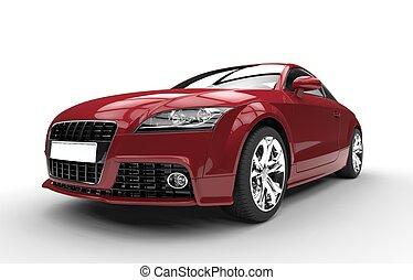 Crimson Red Fast Powerful Car