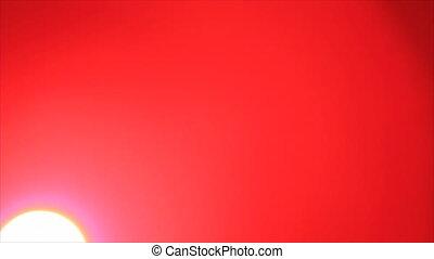 Crimson sky sunrise - Crimson sky bright sun disk sunrise...