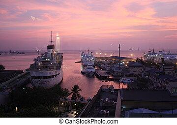 Crimson Sunset in Pier