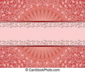 crimson vintage rectangular frame