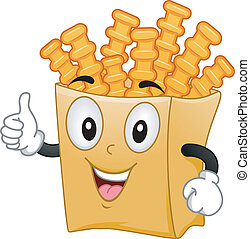 Crinkle Cut Fries Mascot