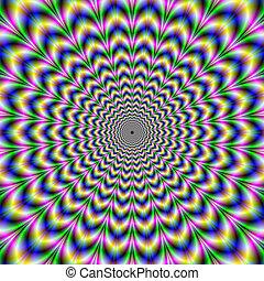 Crinkle Cut Psychedelic Pulse Alternative Color - Digital...