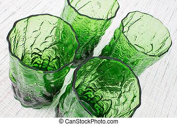 Crinkle Ware Bark Textured Glasses