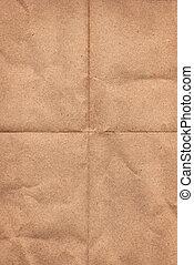 Crinkled grunge brown paper
