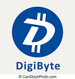 criptocurrency, décentralisé, blockchain, vecteur, digibyte, logo, (dgb)