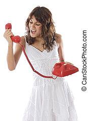 cris, girl, téléphone