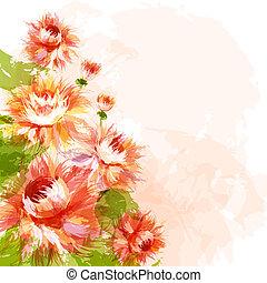 crisantemi, fondo