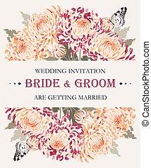 crisantemi, invito matrimonio