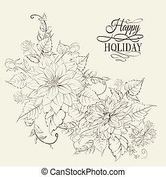 crisantemo, aislado, design.