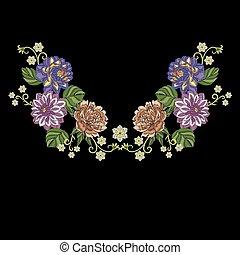 crisantemo, flores, dalia, peonía