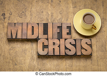 crise, bois, type, midlife, concept