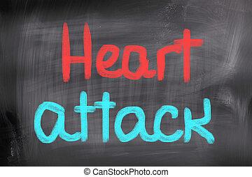 crise cardiaque, concept