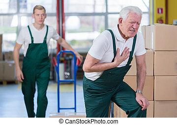 crise cardiaque, lieu travail