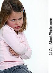 crise colère, enfant, tempérer, avoir