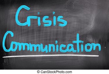 crise, communication, concept