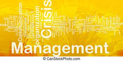 crise, gerência, fundo, conceito