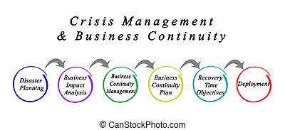 crise, gerência, &, negócio, continuidade