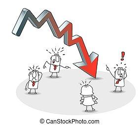 crise, negócio