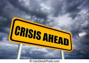 crisi, avanti, segno