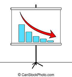 crisi, illustrazione, grafico