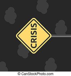 crisi, segno, depressione, notte