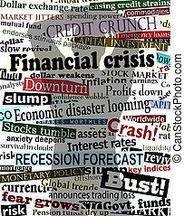 crisi, uggia, finanziario