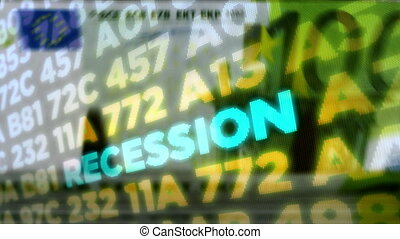 Crisis and recession stock markets and Euro money count
