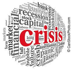 Crisis concept on white