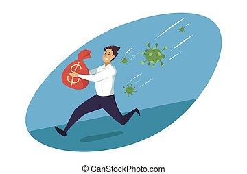 Crisis, coronavirus, business, danger, healthcare concept