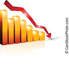Crisis diagram. - Conceptual crisis diagram. Vector...