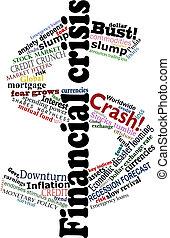 Crisis dollar - Vector dollar sign made financial crisis...