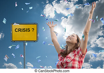 crisis? - girl and money, no crisis