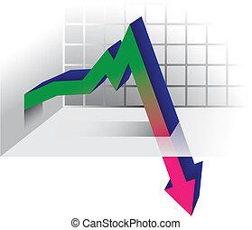 Crisis graph arrow