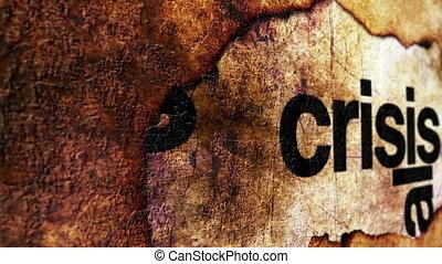 Crisis grunge concept