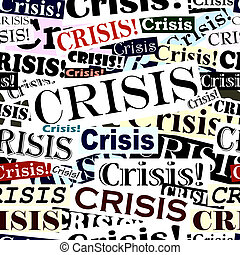 Crisis headlines tile - Seamless tile of crisis headlines