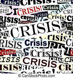 Seamless tile of crisis headlines