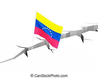 crisis in Venezuela 3d Illustrations on a white background 3D illustration, 3D rendering