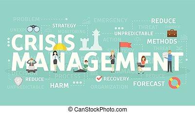 Crisis management concept. - Crisis management concept...