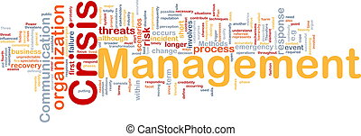 Crisis management is bone background concept - Background...