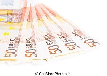 crisis of eurozone, 50-euro banknotes