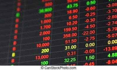 crisis., planche, coût, économique, marché, stockage