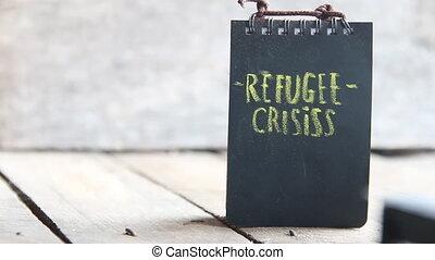 crisis., réfugié, mots
