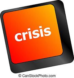 crisis risk management key showing business insurance...