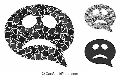 Crisis smiley message Mosaic Icon of Rugged Parts